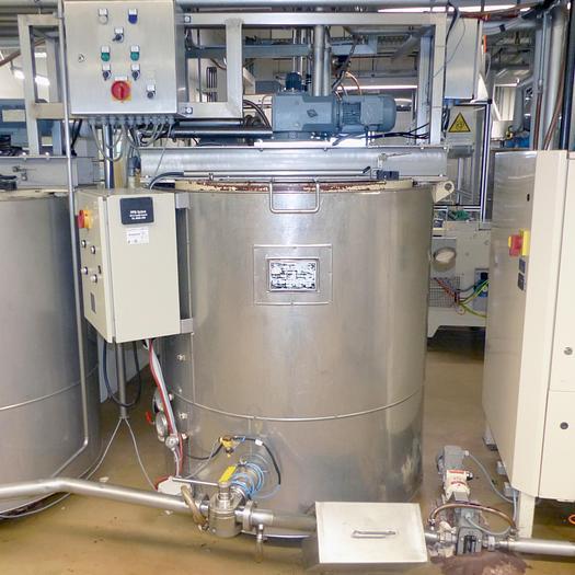 Gebraucht gebr. Rührwerksbehälter UTZSCHNEIDER Type RB-500, Baujahr 1992.