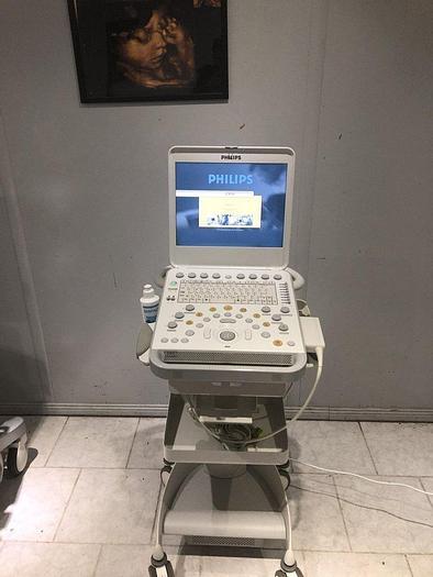 Gebraucht Philips CX30 tragbare Ultraschallsystem mit Kardio Sonde, EKG Kabel