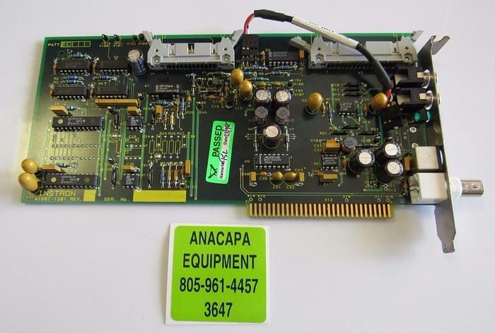 Used Instron A1697-1201 T1697-1201 Rev E PC Board / Interface Card (3647)