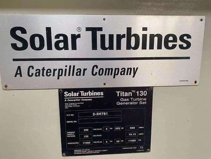 12 MW 2011 Used Solar Turbines Titan 130 Gas Turbine Generator Set
