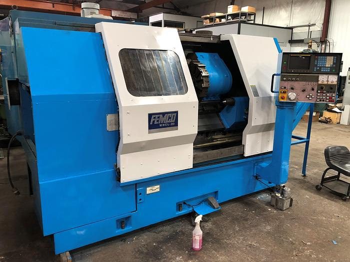 Used Femco 2 Axis CNC Turning Center WNCL-20/60