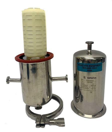 Used Sartorius 7S10LSB00527 Filter Housing, W/ Sartoflour GA 0.2 µm Cartridge (6699)W