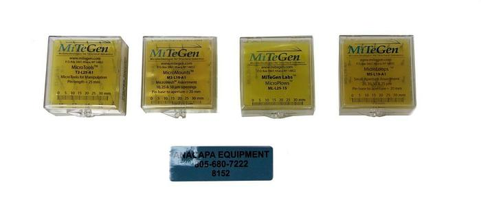 MiTeGen M5-L19-A1, M3-L19-A1, ML-L25-15 Microloops, MicroMounts Lot of 4 (8152)W