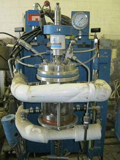 Used 1 QUART AUTOCLAVE ENGINEERS LAB REACTOR – GLASS – 150 PSI