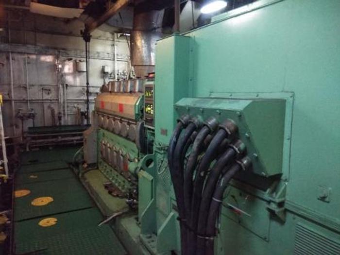 Used 1.1 MW 2011 Used Wartsila W6L20 Diesel Generator Set
