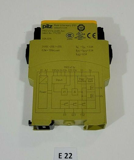 Used *PREOWNED* Pilz PNOZ E3.1P 24VDC 2SO Safety Relay Gate Monitor 774139 + Warranty