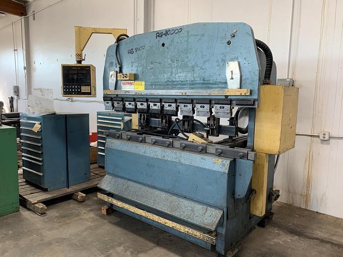 1985 88 Ton Amada RG-80S CNC Press Brake