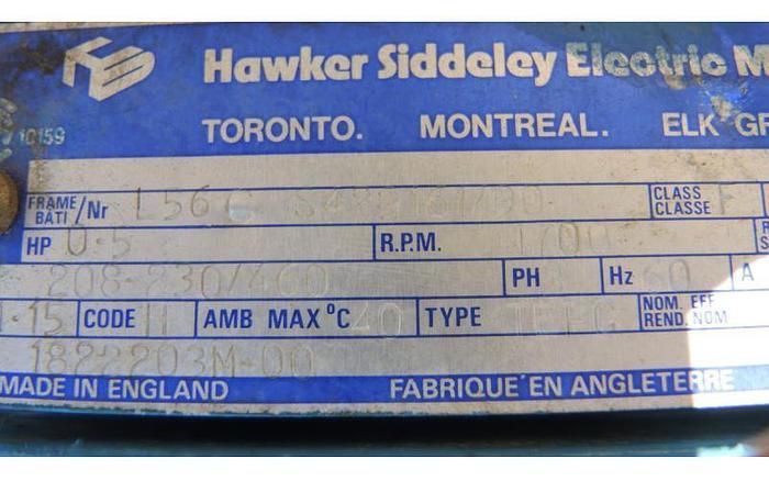USED PHILADELPHIA TOP ENTRY MIXER, MODEL POG-12, 0.5 HP