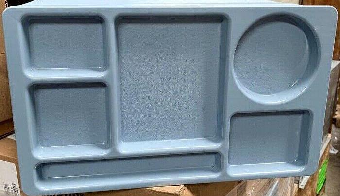 Used Cambro Camwear Blue Cafeteria Serving Trays 24 Per Case Cambro