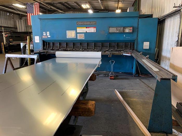 """Used 1999 1/2"""" x 12' Cincinnati 500 CNC Hydraulic Shear"""