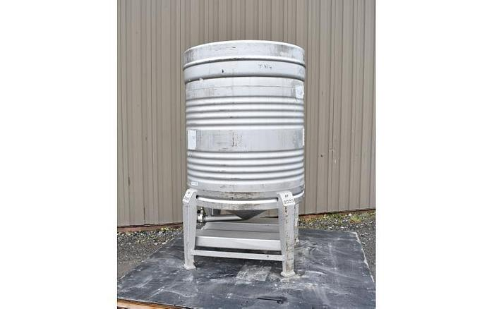 USED 211 GALLON TANK (ASEPTIC TOTE), 304 STAINLESS STEEL