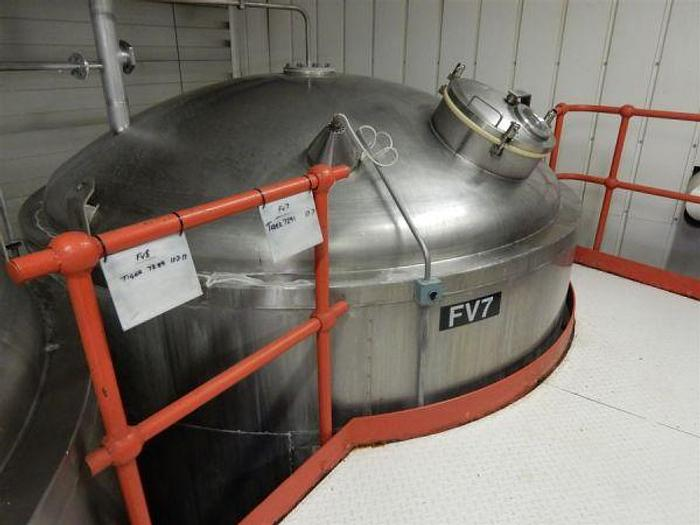 Used 200Hl (120 Brl) Cylindro Conical Fermenter