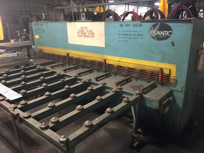 "1980 ATLANTIC 10' X 1/4"" HYDRAULIC POWER SQUARING SHEAR"