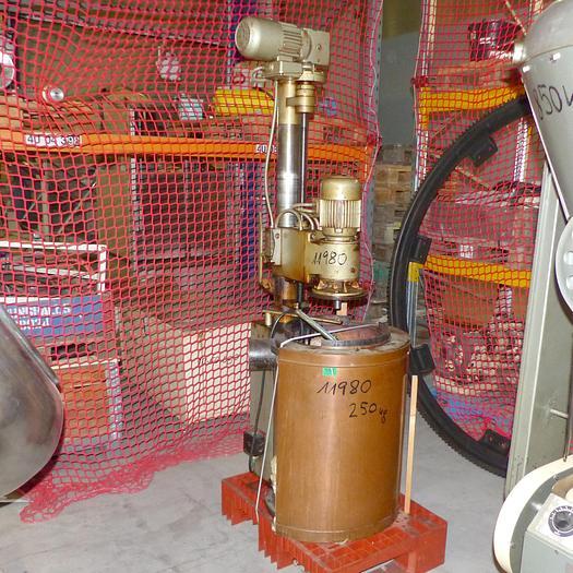 Gebraucht gebr. Krokantkochrührwerk HOPPE Type KR-5 mit Kupferkessel und Gasbrenner.