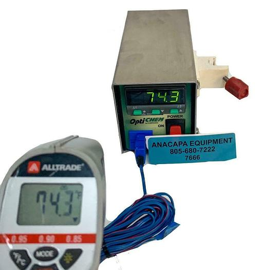 Used OptiChem CG-3498 Digital Temperature Monitor for Type T ThermoCouple (7666) W
