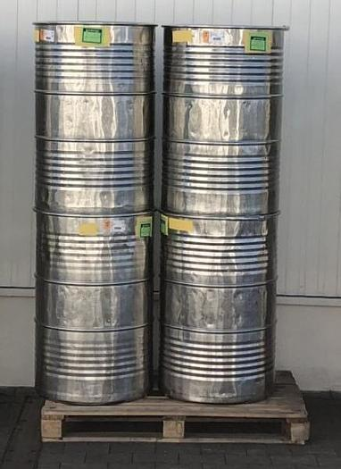Used x 12850 D - Drums 200 L Stainless Steel with Lids