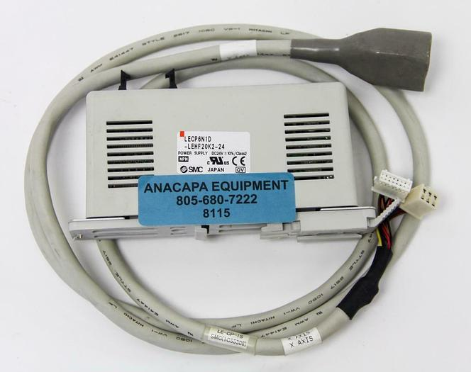 Used SMC LECP6N1D-LEHF20K2-24 Motor Controller, W/LE-CP-1S 5 Foot Cable (8115)W