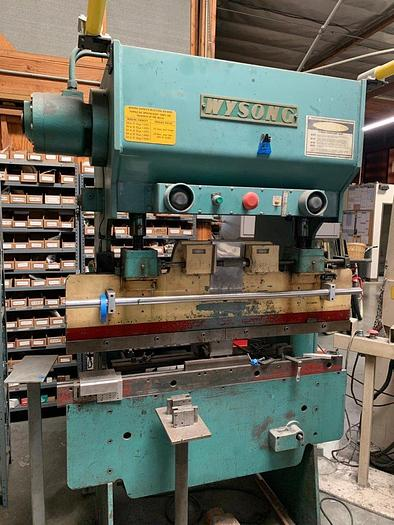 "1982 20 Ton x 52"" Wysong Hydra-Mechanical Press Brake"