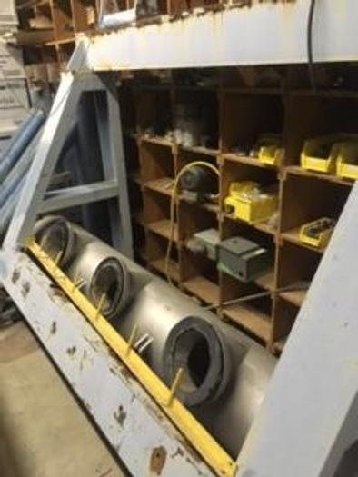 Used GEAR BOX MOTORS AND THREE INCLINED SCREW THICKENERS
