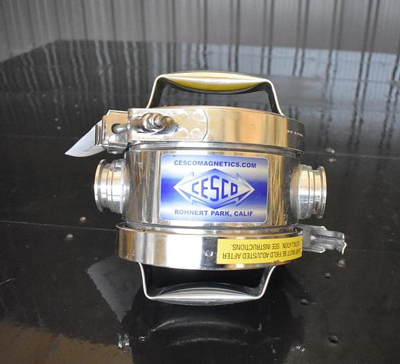 Used USED 1.5'' HIGH PRESSURE SANITARY MAGNET TRAP, STAINLESS STEEL