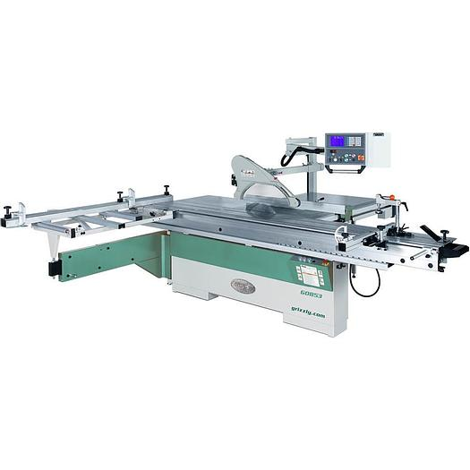 """Grizzly G0853 - 14"""" 10 HP 3-Phase Sliding Table Saw with Digital Fence"""