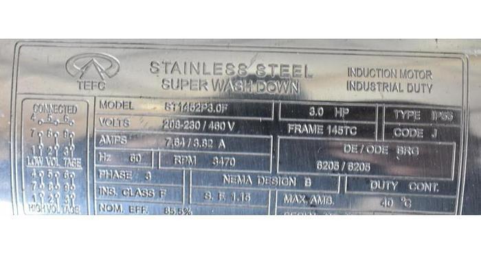 USED ROTOSOLVER HOMOGENIZER 3 HP, STAINLESS STEEL