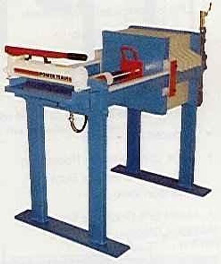 Used 1.5 CU. FT. 470 MM FILTER PRESS WITH MANUAL HYDRAULIC CLOSURE (NEW)