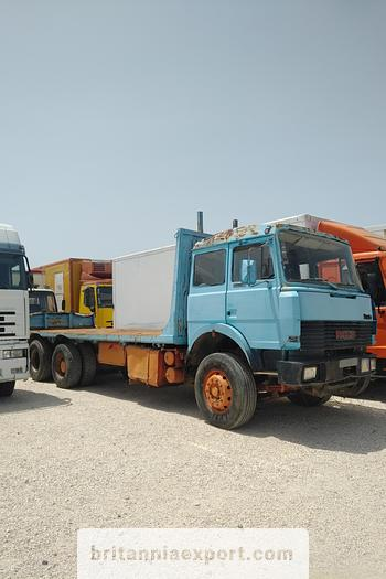 Used 1989 IVECO Turbostar 190.30 10 tyres flatbed truck