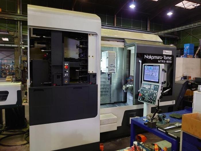 Använd Nakamura Super NT RX300, från 2016, 5-axlig CNC-svarv med fräsfunktion
