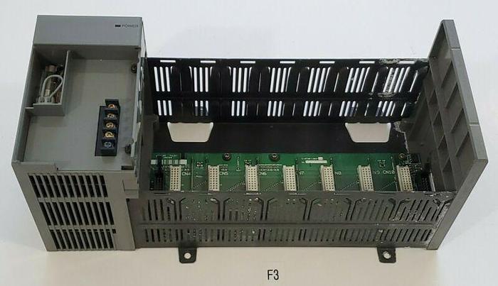 Used *PREOWNED* Allen Bradley SLC 500 1746-P2 AC Power Supply w/ 1746-A7 7 Slot Rack