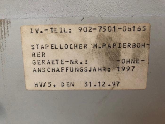 Papierstapellocher NAGEL