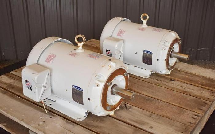 USED PAIR OF 20 HP MOTORS