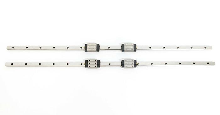 Used IKO Japan LRX15SL Linear Rail w/ 2 LRXD15SL Precision Ball Slides Lot of 2 (5591