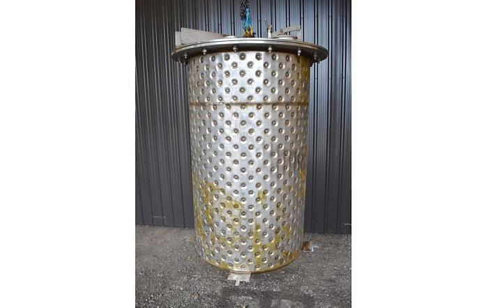 USED 265 GALLON JACKETED TANK, STAINLESS STEEL