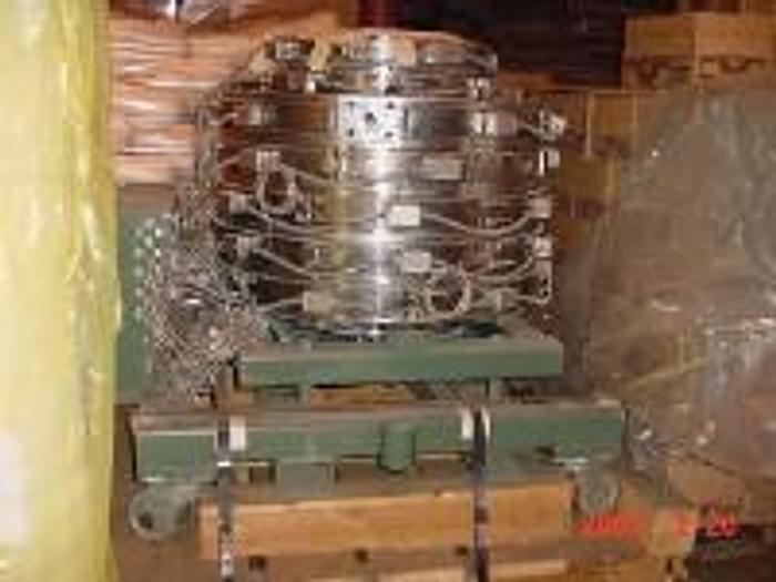 """Used 5 Layer 14"""" die. Sano Model 5-layer stack 14"""" Mounted on fixed cart."""