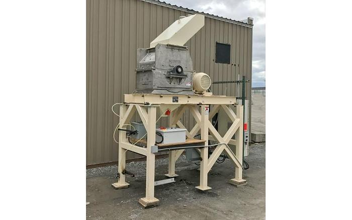 USED SCHUTTE HAMMER MILL, SWINGING HAMMERS, STAINLESS STEEL, 40 HP