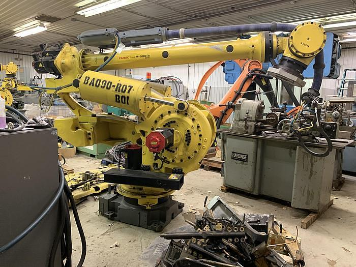 SEVERAL FANUC  M900iA/400L 6 AXIS CNC ROBOT WITH R30iA CONTROLLER 400KG X 3625mm HIGH REACH