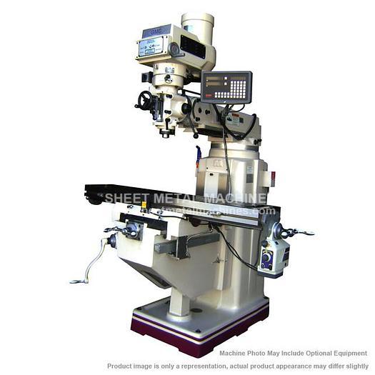 GMC Machine Tools Manual Vertical Knee Mill Package GMM-1054VPKG