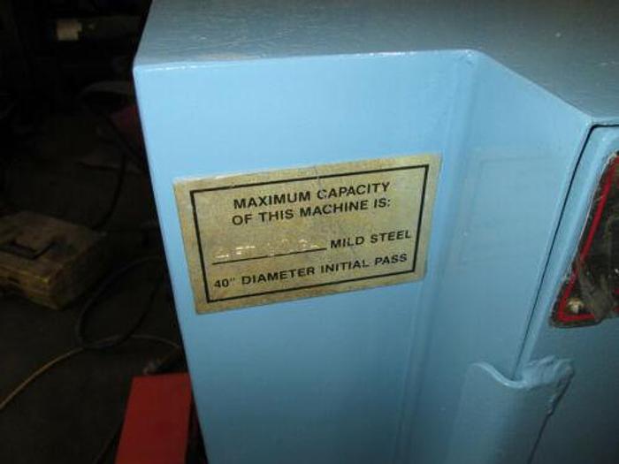 U.S. MADE DIMENSION 4 FOOT 10 GAUGE HYDRAULIC INITIAL PINCH BENDING ROLLS