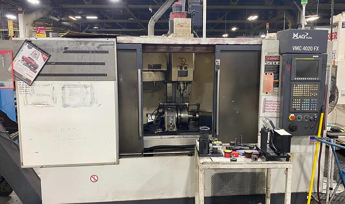 Used FADAL MAG 4020 VMC WITH FANUC Oi CNC CONTROLS & 4TH AXIS INDEXER