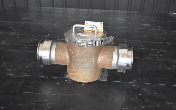 "USED 4"" ERIEZ PERMANENT MAGNETIC LIQUID TRAP, STAINLESS STEEL"
