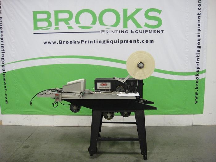 Used Scott Loose Leaf Sheet Reinforcing Machine with Feed Attactment