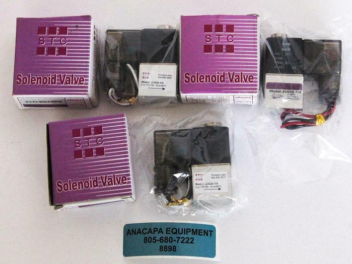 STC 2V025-1/4-3-D, 2V035-1/4 2-Way & 3-Way Solenoid Valve Lot of 3 New (8898)W
