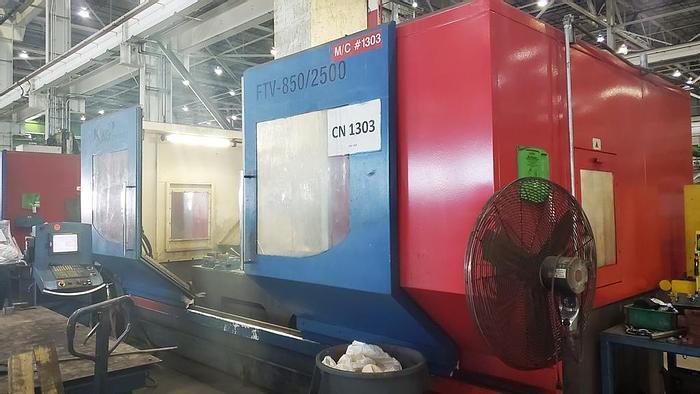 "Used 2009 Cincinnati Machine Vertical Machining Center, Model FTV 850?2500, Table 36"" X 124"", X-98.5, Y-34.5"", 42 HP, 6000 RPM"