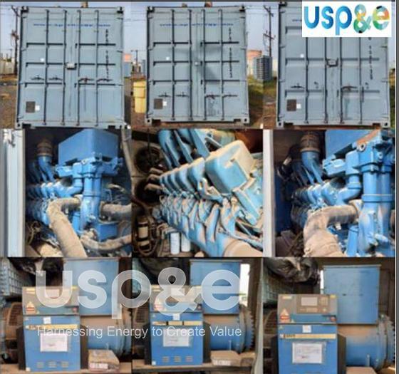 Used 6 MW 2012 Used MTU 12V4000G63 Diesel Generator