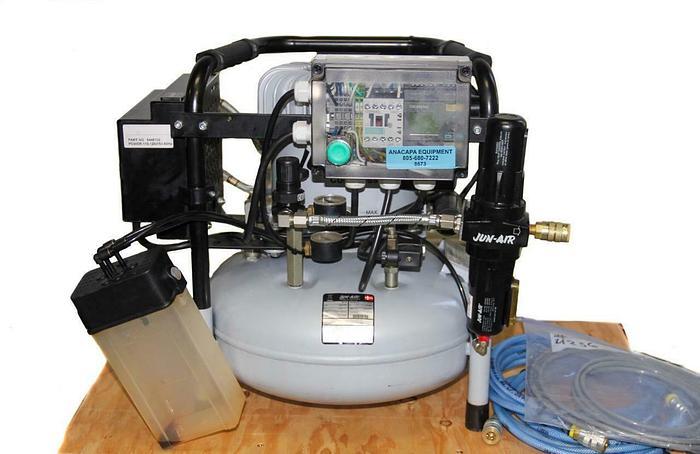 Used Jun Air 1352006 6-15 Dental Compressor 0.54Hp 3500 RPM Plus Extras (8673)W