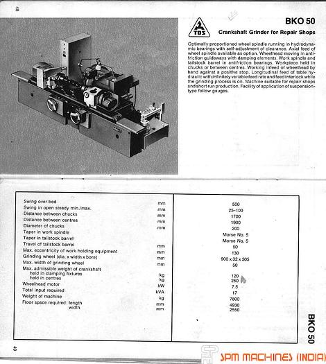 TOS Crankshaft Grinder BKO50