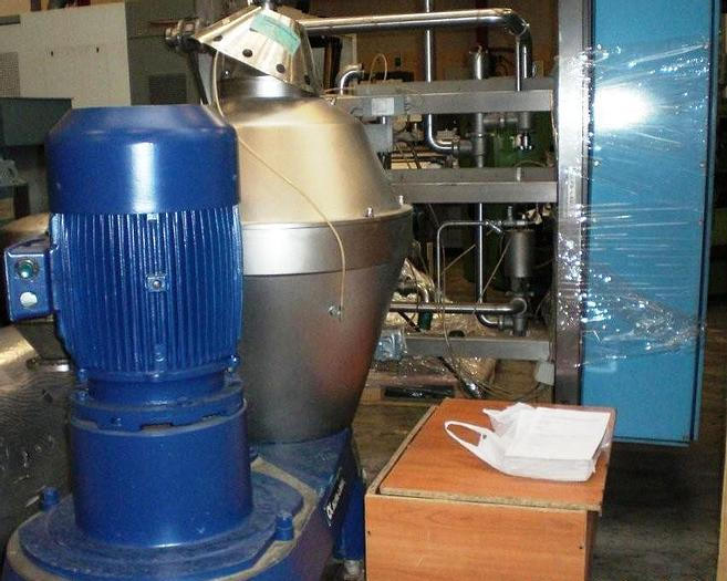Used Alfa Laval separator, type AX215H-31B including installation module