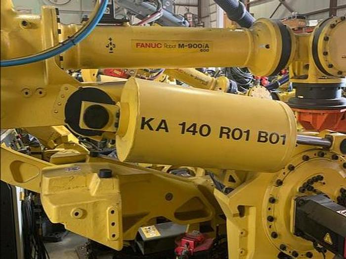 Used FANUC M900iA/600 6 AXIS ROBOT WITH R30iA CONTROLLERS (30) UNITS AVAILABLE 600KG X 2,832 MM REACH