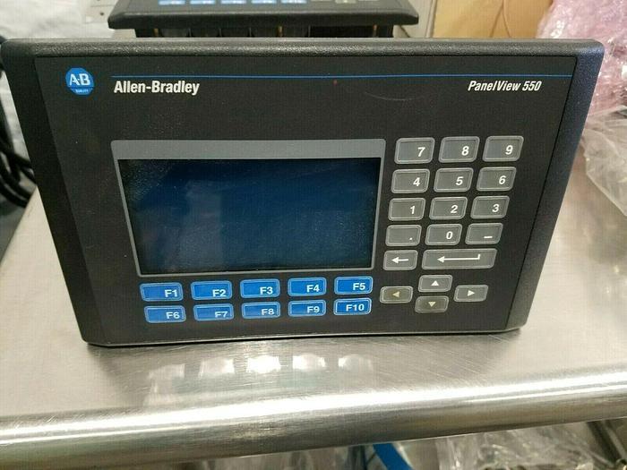 Used Allen Bradley PanelView 550 Control Panel